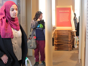 Students explore the the Jerome-Rohwer Interpretive Museum and Visitor Center.