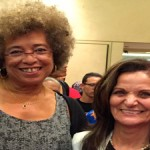 Angela Davis and Rasmea Odeh (Photo by Bill Chambers)