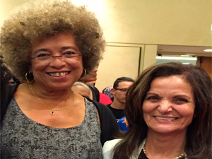 Angela Davis and Rasmea Odeh (Photo by Bill Chambers)