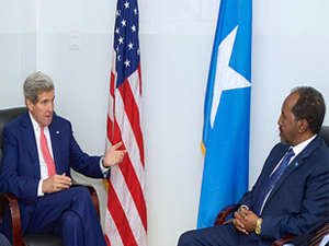 U.S. Secretary of State John Kerry and Somali President Hassan Sheikh Mohamud [State Department Photo]
