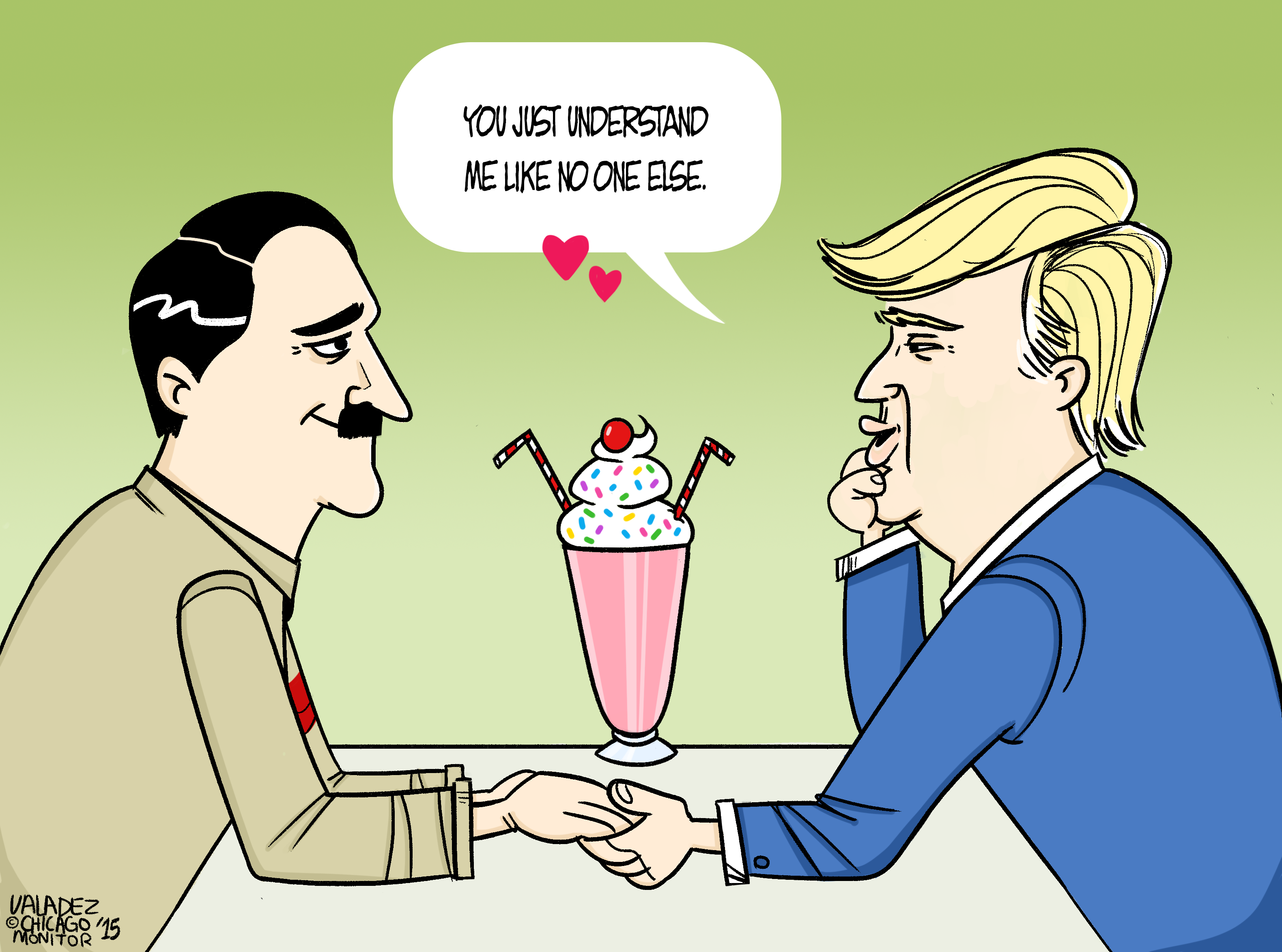 hitler and trump in love