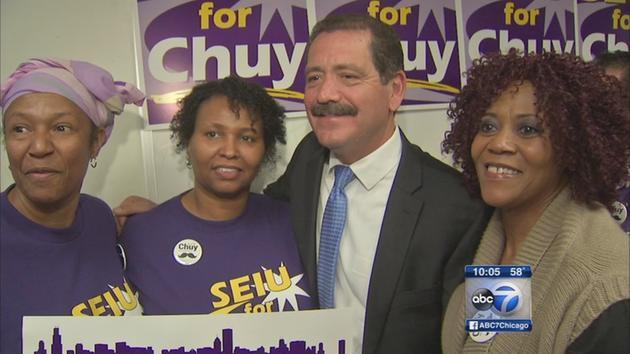 "Meanwhile SEIU Healthcare endorses Jesus ""Chuy"" Garcia for Mayor"