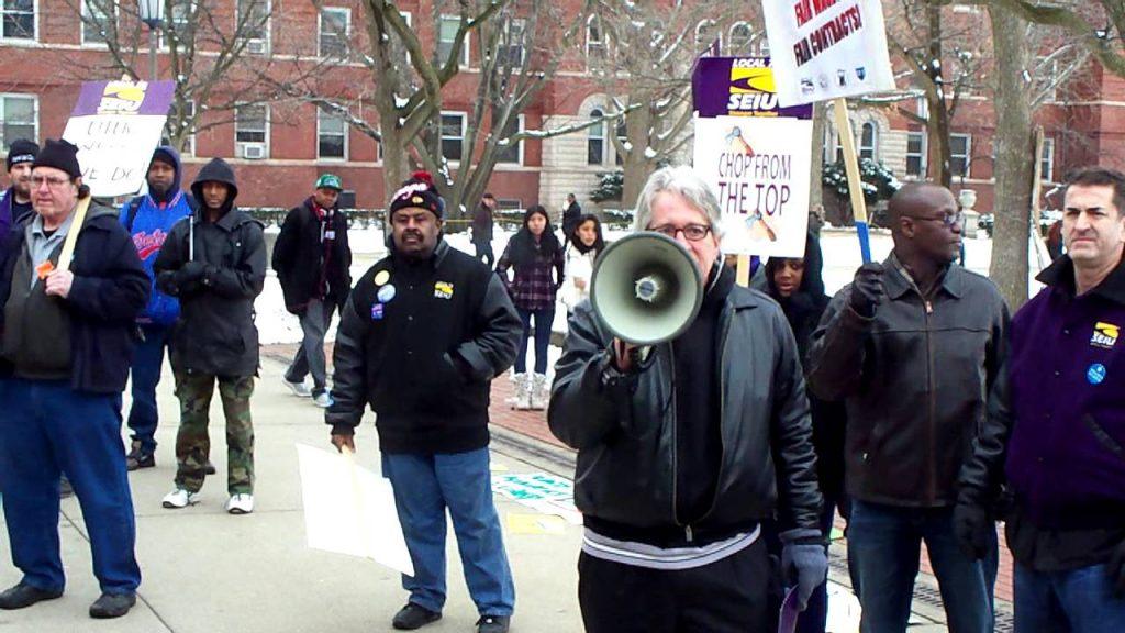 SEIU Local 73 Strike at University of Illinois Champaign-Urbana
