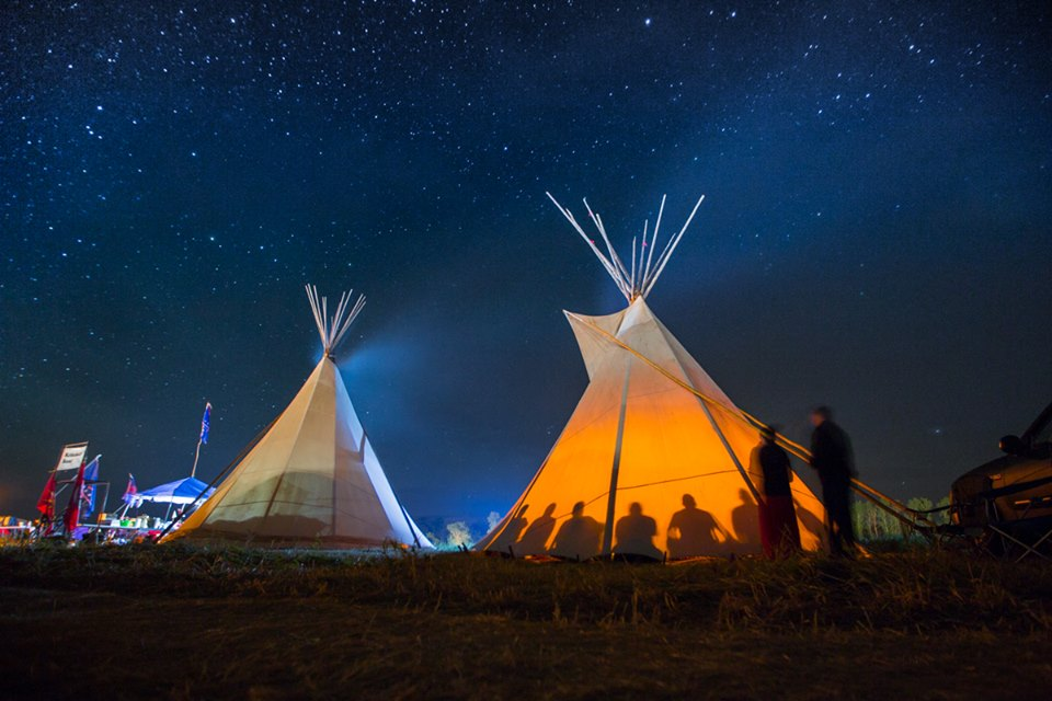 Photo c/o the mind-blowingly talented Indigenous photographer Tomas Amaya -- be sure to peep more of his photography from Standing Rock.